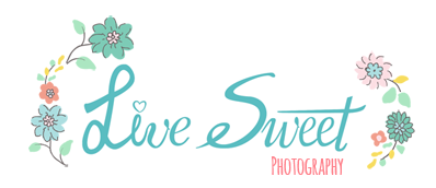 Live Sweet Photography, Portrait Photographer logo